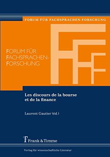 9783865963024: Les Discours de La Bourse Et de La Finance