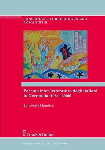 Per una inter-letteratura degli italiani in Germania (1964-2009): Benedetta Mannino