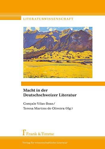 Macht in der Deutschschweizer Literatur: Gonçalo Vilas-Boas