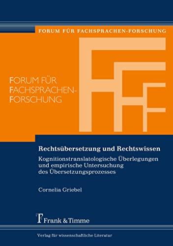 Rechtsübersetzung und Rechtswissen: Cornelia Griebel