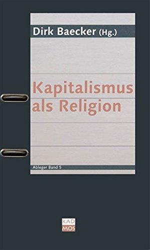 9783865990549: Kapitalismus als Religion