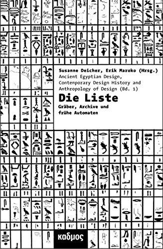 9783865992284: Die Liste: Ordnungen von Dingen und Menschen in �gypten