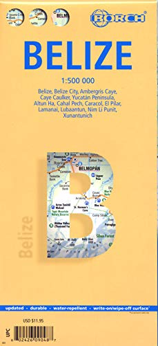 9783866090484: Laminated Belize Map by Borch (English, Spanish, French and Italian Edition)