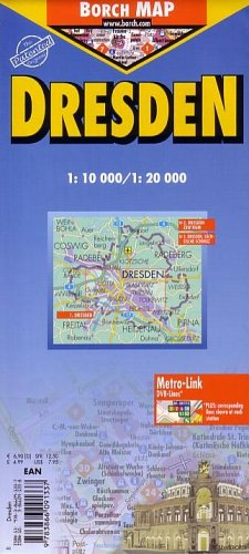 9783866091337: Dresden Laminated Map by Borch (English, Spanish, French, Italian and German) (English, Spanish, French, Italian and German Edition)