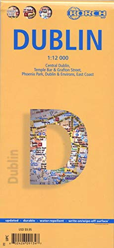 9783866091344: Laminated Dublin Map by Borch (English, Spanish, French, Italian and German Edition)