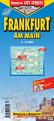 9783866091351: Frankfurt City Streets Map (B&B)