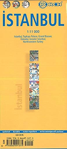9783866091375: Estambul, plano callejero plastificado. Escala 1:11.000. Borch.: BB.C460 (Borch Maps)