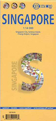 9783866091467: Laminated Singapore map by Borch (English, Spanish, French, Italian and German Edition)