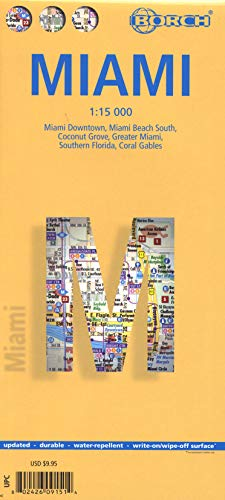 9783866091511: Laminated Miami Map by Borch (English Edition)