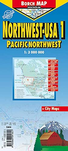 9783866091641: Laminated Pacific Northwest Map by Borch