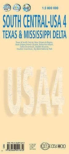 Laminated South Central-USA4 Map by Borch (English Edition) (No. 4): Borch