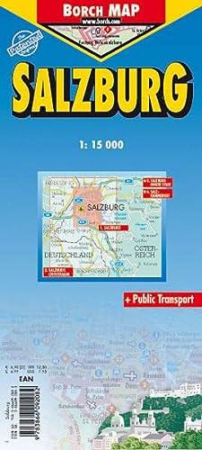 9783866092082: Salzburg Laminated Street Map by Borch