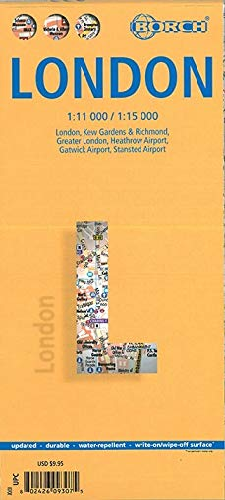 9783866093072: Laminated London Map by Borch (English Edition)