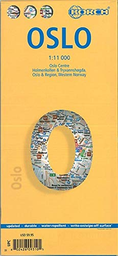 9783866093102: Oslo Borch Map 1:11 000 (English, French and German Edition)