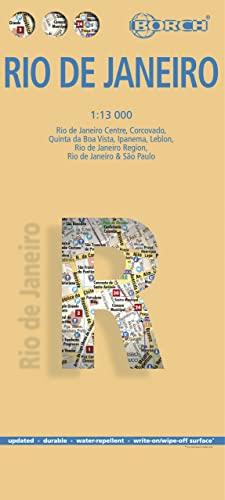 9783866093140: Laminated Rio de Janeiro Map by Borch (English, Spanish, French, Italian and German Edition)