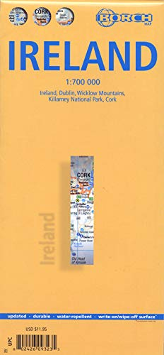 9783866093232: Laminated Ireland Map by Borch (English Edition)