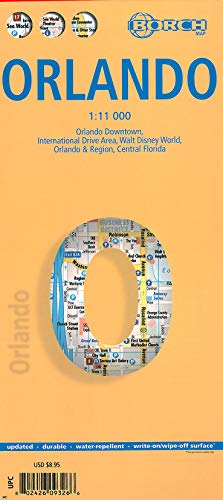 9783866093263: Laminated Orlando Map by Borch (English, Spanish, French, Italian and German Edition)