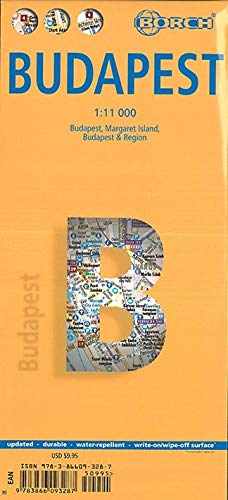 9783866093287: Laminated Budapest City Streets Map by Borch (English Edition)