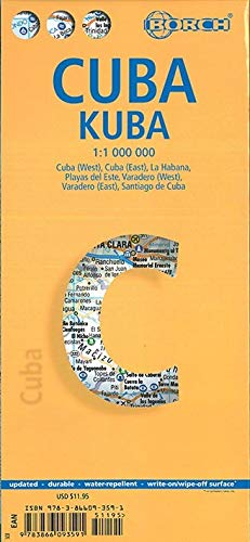 9783866093591: Laminated Cuba Map by Borch (English Edition)