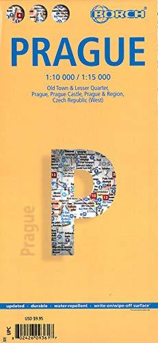 9783866093614: Laminated Prague Map by Borch (English Edition)