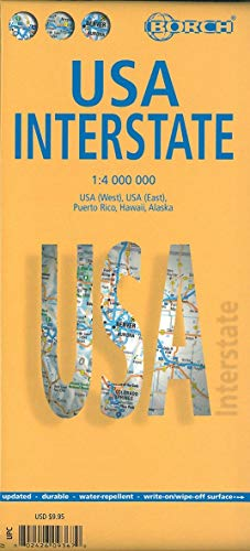 9783866093676: Laminated USA Interstate Map by Borch (English Edition)