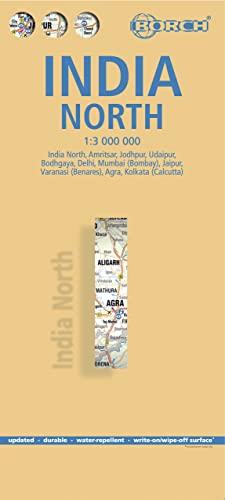 9783866093720: India norte, mapa de carreteras plastificado. Escala 1:1.000.000. Borch. (Borch Map)