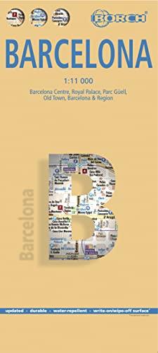 9783866093737: Laminated Barcelona Map by Borch (English Edition)