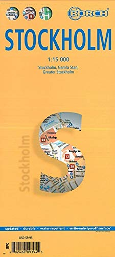 9783866093942: Stockholm City 1:15 000 Borch 2012