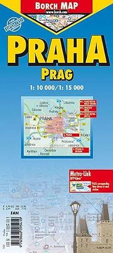 9783866095410: Prague City Streets Laminated Map