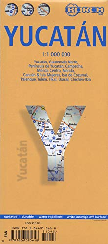 9783866095618: Laminated Yucatan Map by Borch (English) (English, Spanish, French, Italian and German Edition)