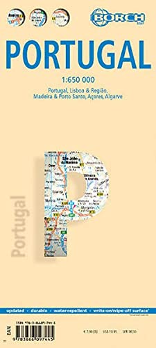 9783866097445: Laminated Portugal Map by Borch (English Edition)