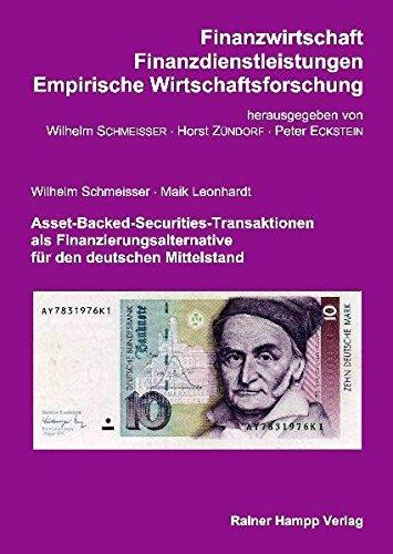 9783866180086: Asset-Backed-Securities-Transaktionen als Finanzierungsalternative für den deutschen Mittelstand