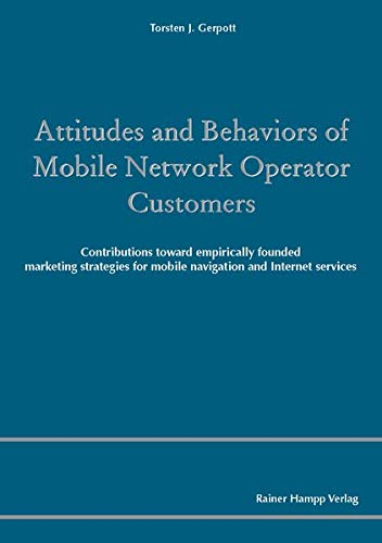 9783866184329: Attitudes and Behaviors of Mobile Network Operator Customers