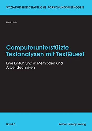9783866188310: Computerunterstützte Textanalysen mit TextQuest: Eine Einführung in Methoden und Arbeitstechniken