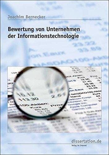 9783866242555: Bewertung von Unternehmen der Informationstechnologie: unter Berücksichtigung von strategischen Handlungsmöglichkeiten (mit integriertem Bewertungsmodell) (Livre en allemand)