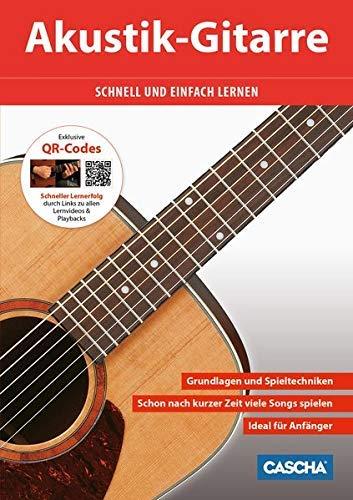 9783866262263: Akustik Gitarrenschule + CD + DVD: Schnell und einfach lernen