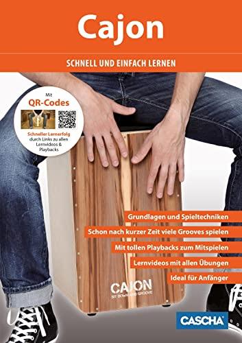 9783866263055: Cajon - schnell und einfach lernen + CD + DVD: Grundlagen und Spieltechniken - Schon nach kurzer Zeit viele Grooves spielen - Ideal f�r Anf�nger - DVD ... Playbacks zum Mitspielen - Mit vielen Fotos