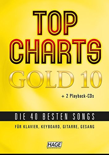 9783866263772: Top Charts Gold 10 mit 2 Playback CDs