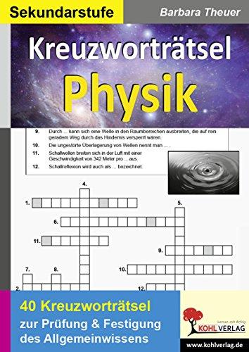 9783866321311: Kreuzworträtsel Physik: Prüfung und Festigung des Allgemeinwissens