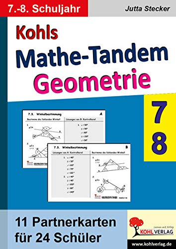 9783866323445: Kohls Mathe-Tandem / Geoemtrie 7.-8. Schuljahr: Partnerrechnen im 7.-8. Schuljahr
