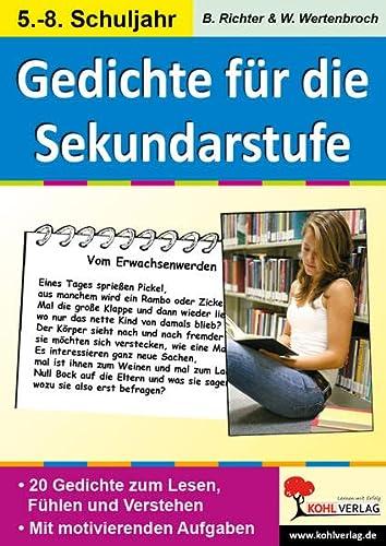 9783866323896: Lernwerkstatt Gedichte f�r die Sekundarstufe