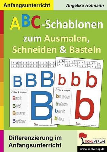9783866324138: ABC-Schablonen zum Ausmalen, Schneiden und Basteln