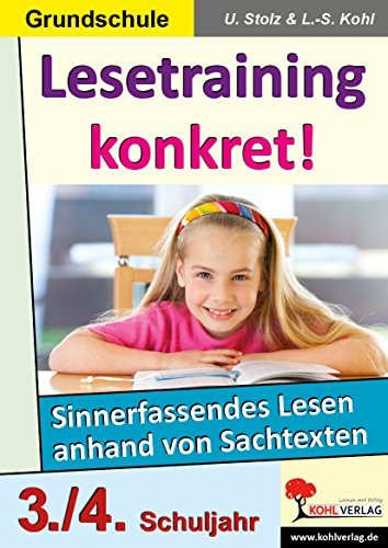 9783866324732: Lesetraining konkret!, 3./4. Schuljahr