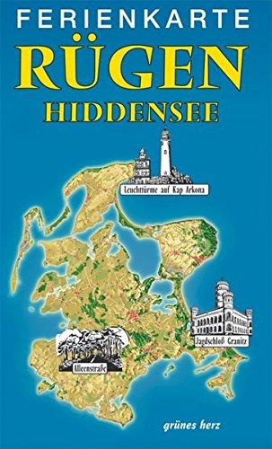 9783866360280: Rügen - Hiddensee Ferienkarte