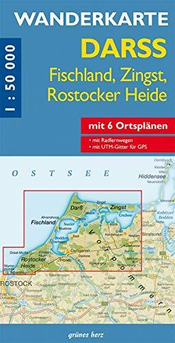 9783866360327: Darß 1 : 50 000 Wanderkarte: Fischland-Zingst, Rostocker Heide