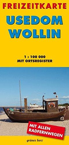9783866360549: Usedom - Wollin 1 : 100 000 Freizeitkarte: Mit Ortsregister
