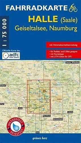 9783866360686: Halle (Saale) 1 : 75 000 Fahrradkarte: Mit Eisleben, Geiseltalsee, Naumburg. Mit Himmelsscheiben-Radweg. Mit UTM-Gitter für GPS. Offizielle Karte des ... GPS. Maßstab 1:75.000. Wasser- und reißfest