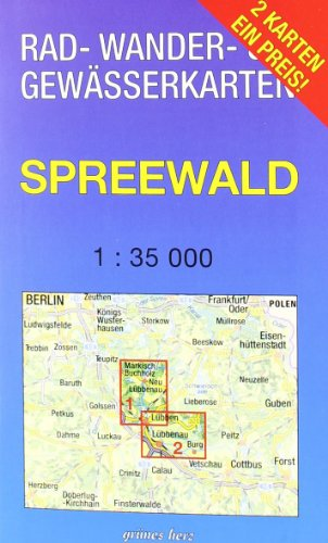 9783866360914: Spreewald 1 : 35 000 Rad-, Wander- und Gew�sserkarten-Set: Mit den Karten: