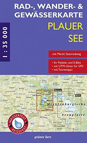 9783866361010: Plauer See 1 : 35 000 Rad-, Wander- und Gew�sserkarte: Mit Plau am See, Karow, Alt Schwerin, Malchow, Zislow, Bad Stuer, Satow, Nossentiner H�tte