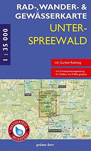 9783866361072: Unterspreewald 1 : 35 000. Rad-, Wander- und Gewässerkarte